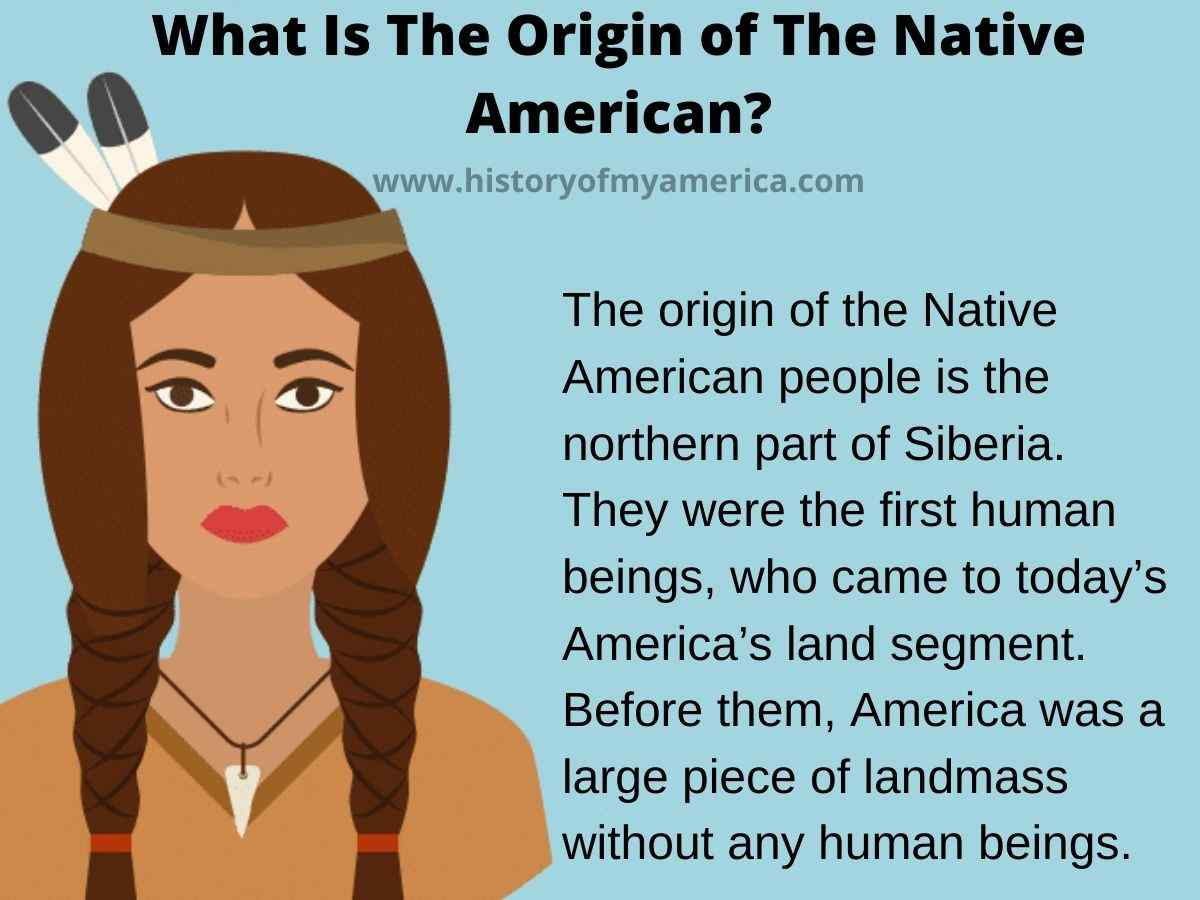 What Is The Origin of The Native American, red indians origin