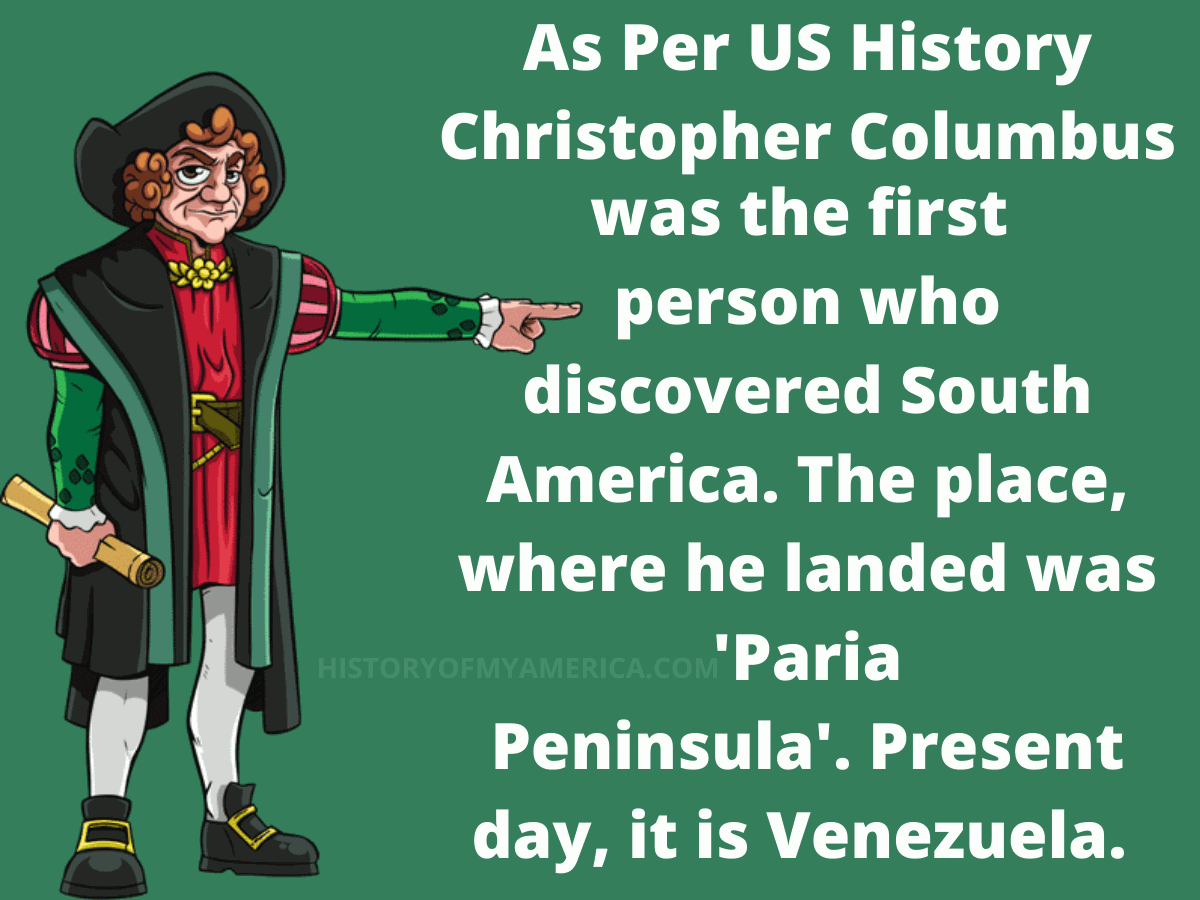 Who Discovered South America, christopher columbus