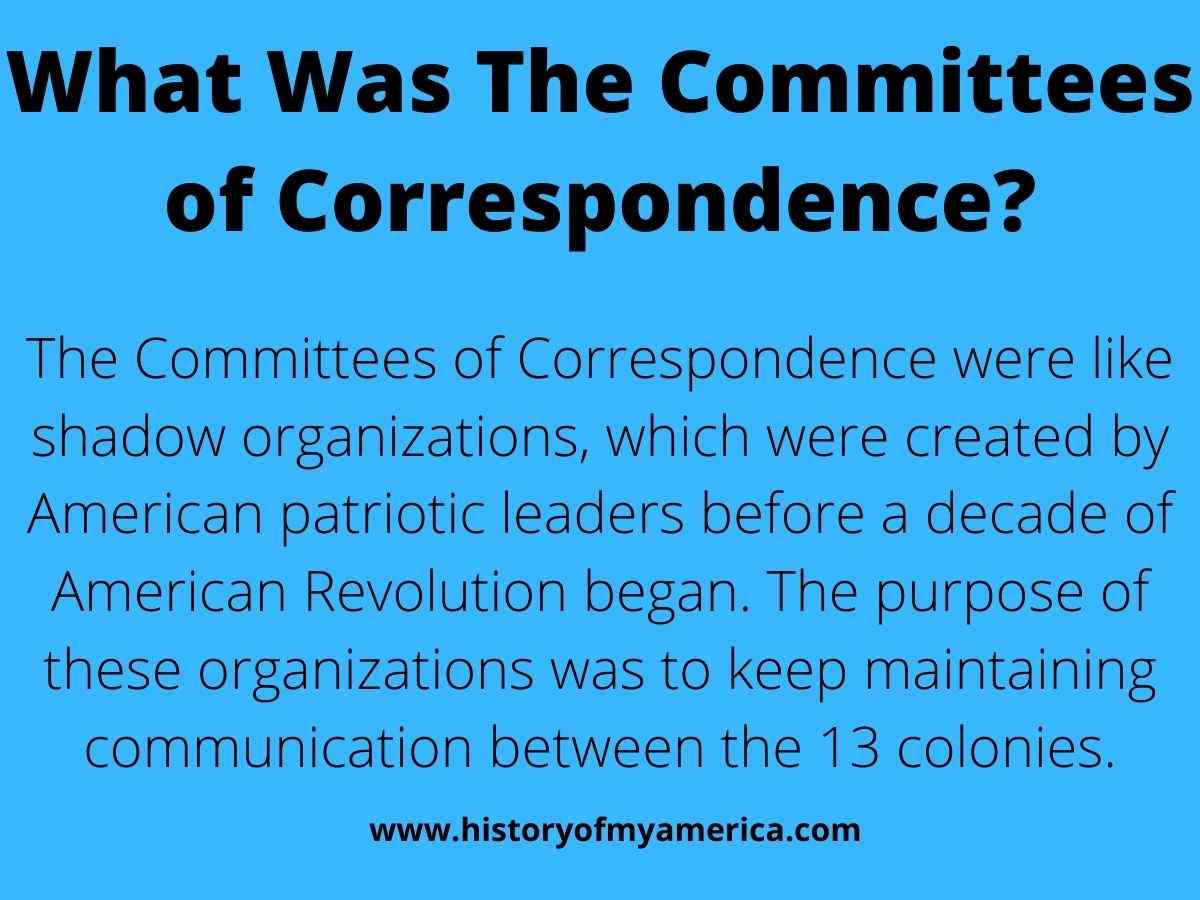 What Was The Committees of Correspondence