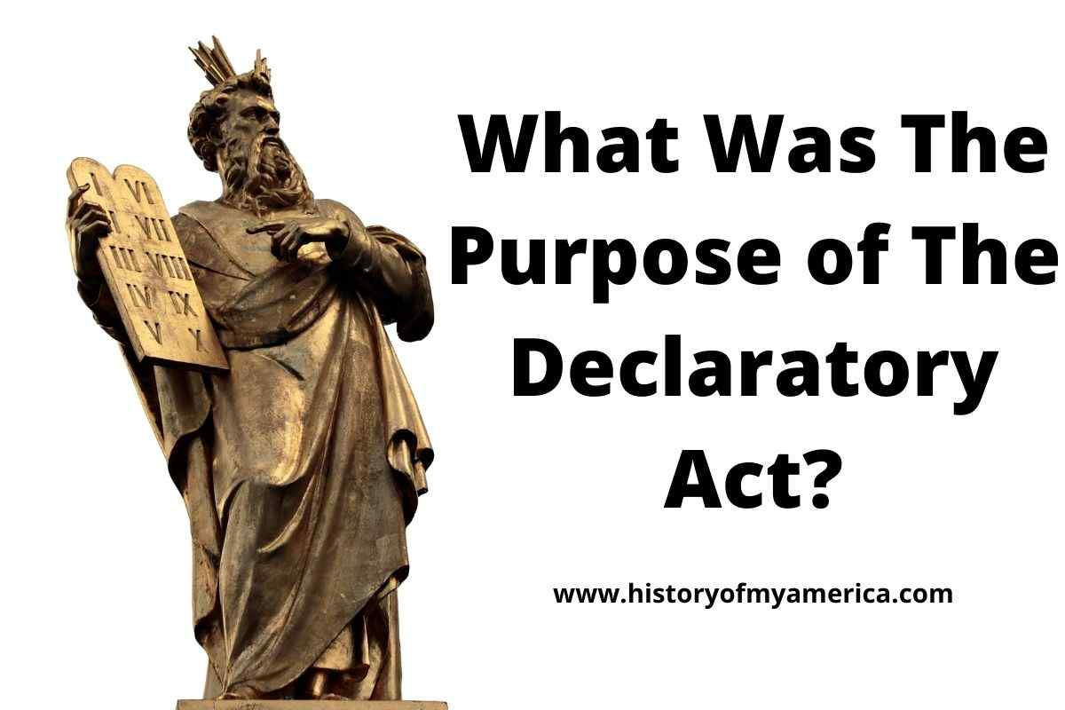 What Was The Purpose of The Declaratory Act