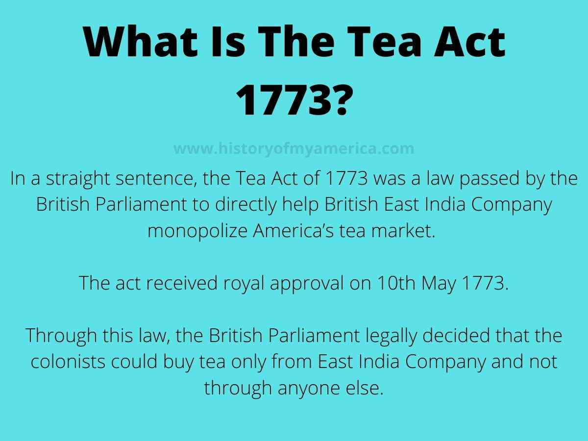 What Was The Tea Act 1773