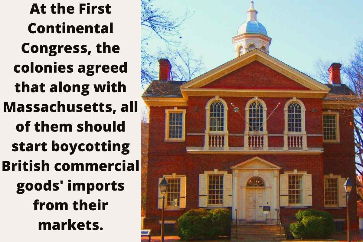 At The First Continental Congress The Colonies Agreed That Massachusetts Should Start Doing What, carpenters' hall