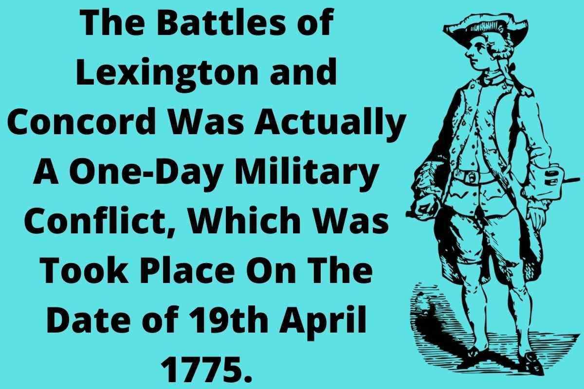 Battles of Lexington And Concord Date
