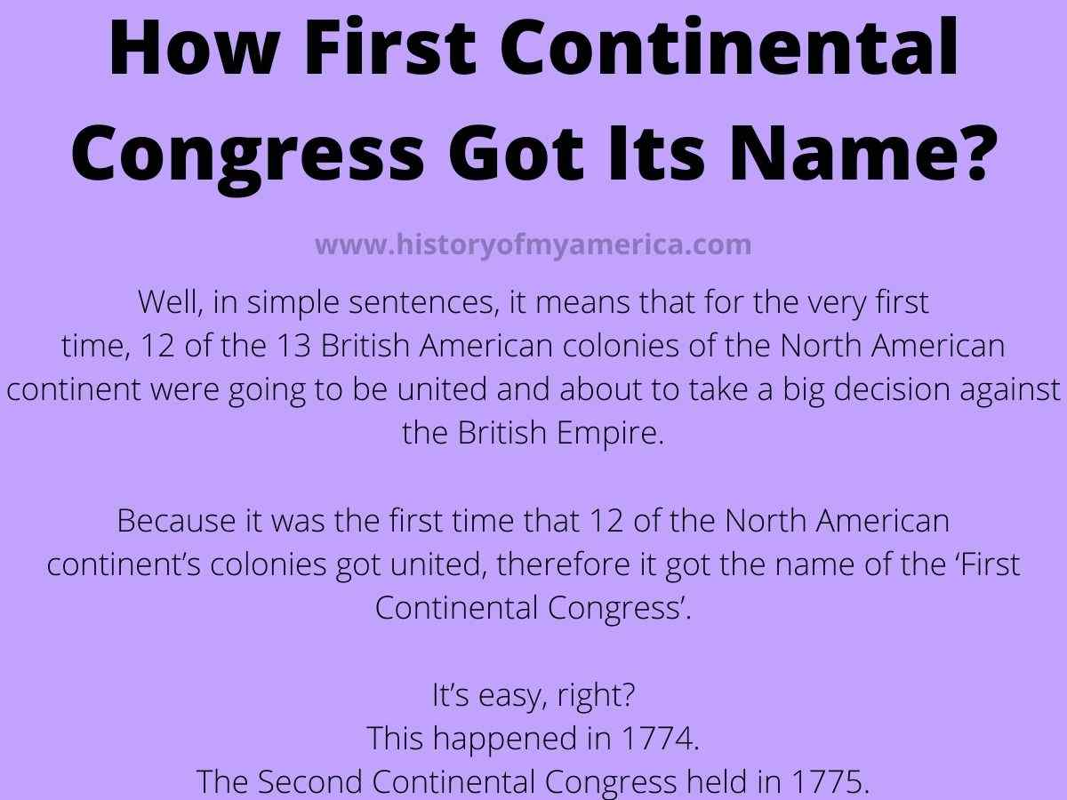 How The First Continental Congress Got Its Name