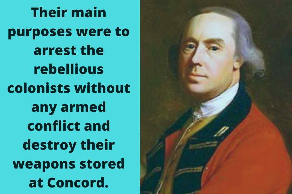 Why Did General Thomas Gage Order British Troops To March To Concord In April 1775
