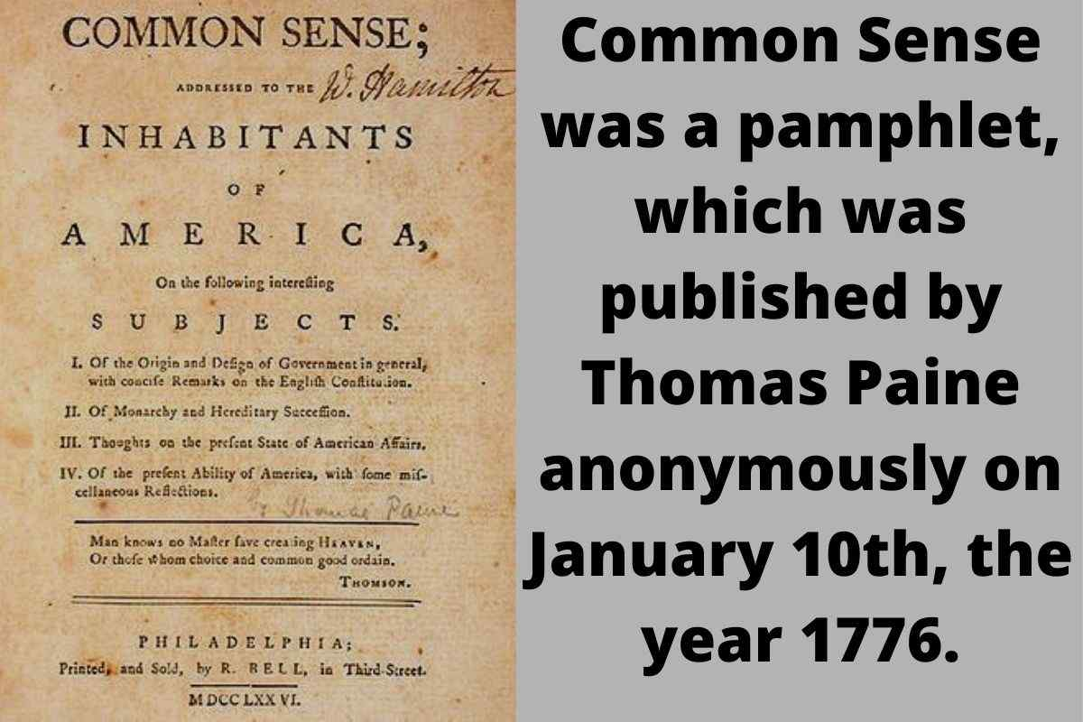 Why Did Thomas Paine Question British Authority To Rule The Colonies In Common Sense