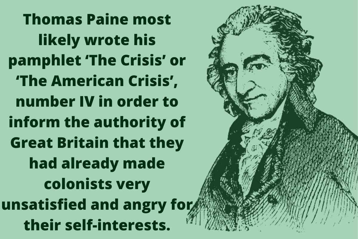 Thomas Paine, the crisis pamphlet image, american history
