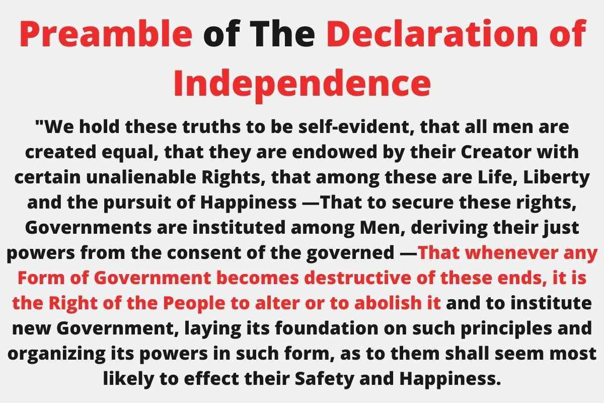 Declaration of Independence Right To Overthrow Government