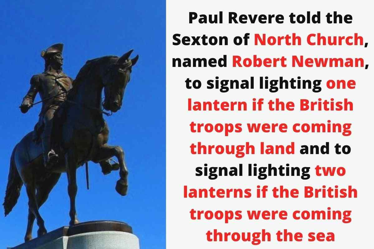 What System Did Paul Revere Set Up To Signal That The British Were Coming